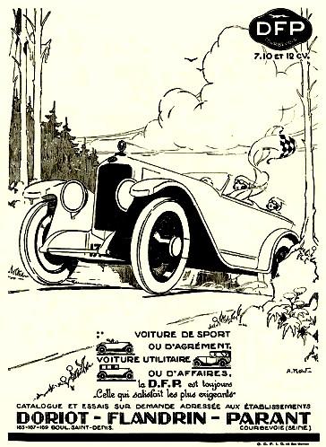 Doriot Flandrin et Parant 7-10 et 12 cv - Publicite Automobile de 1925.jpg