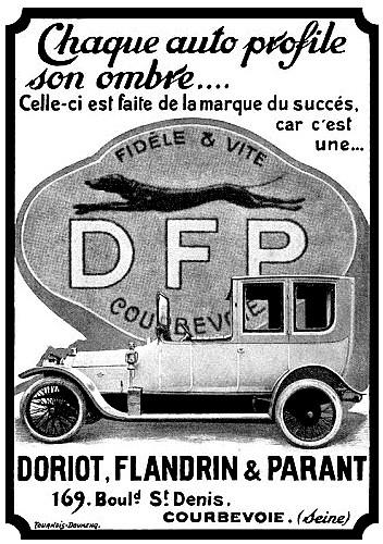 Doriot Flandrin et Parant D F P - Publicite Automobile de 1913.jpg