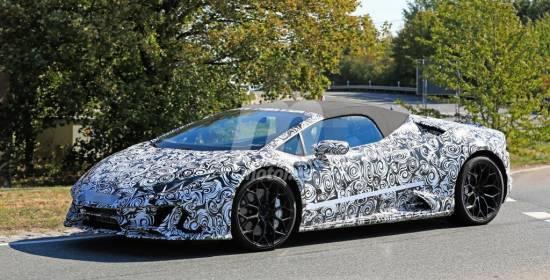 El facelift del Lamborghini Huracan Spyder al descubierto